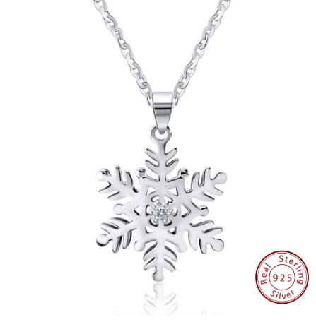 925 sterling silver snow crystal pendant necklaces necklace jewelry 925 sterling silver snow crystal pendant necklaces necklace jewelry aloadofball Image collections