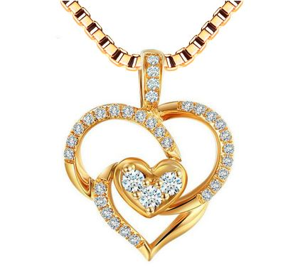 9fe4c5c7a5 Unique Heart with 925 Sterling Silver Necklaces & Pendants for Women ...