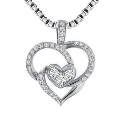 Unique heart with 925 sterling silver necklaces pendants for women unique heart with 925 sterling silver necklaces pendants aloadofball Images